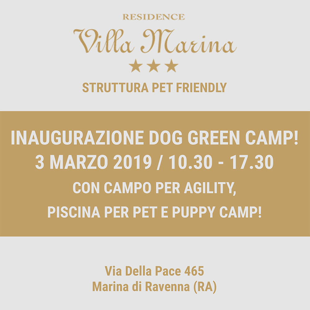 INAUGURAZIONE DOG GREEN CAMP